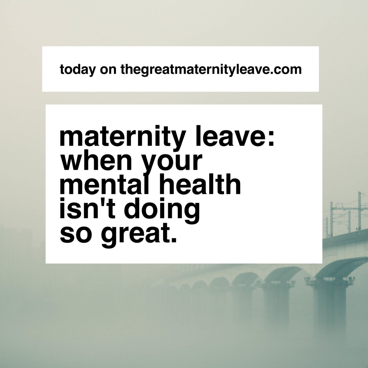 Your Mental Health On Maternity Leave:  What is a Real FunkLike?
