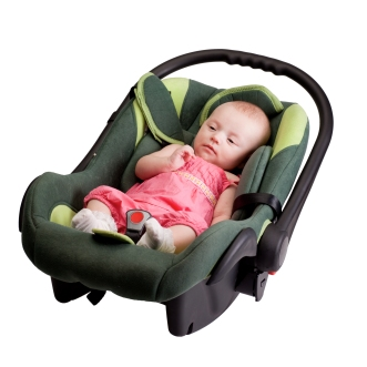 Baby Girl Toddler in Car Seat